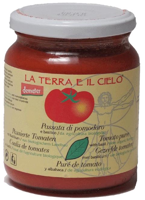Tomaten Passata mit Basilikum Demeter