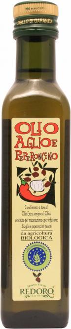 Knoblauch- Peperoncino-Öl - BIO