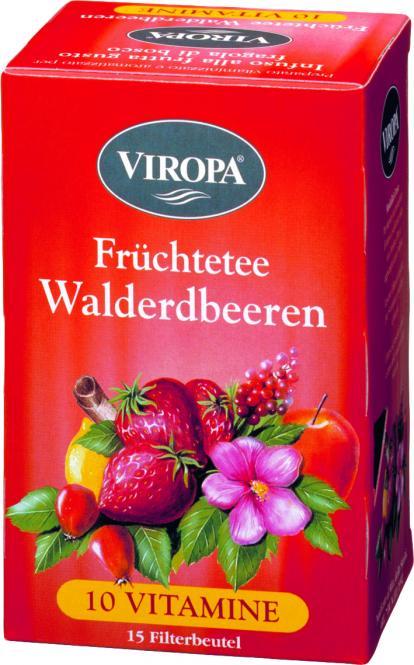 VIROPA Walderdbeeren - Vitamin Früchtetee
